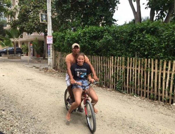 Pepe on a bike